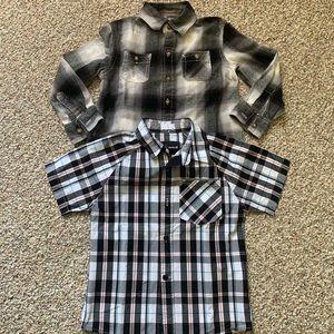 Hurley and Arizona Brand button up shirts